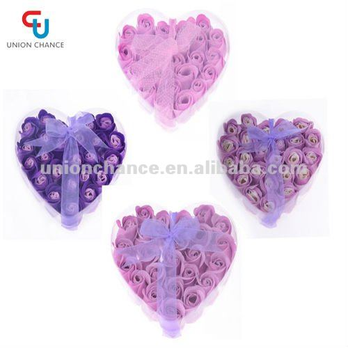 24pcs Rose Flower Petal Soap