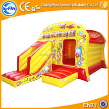 Cheap used commercial cartoon bubble bouncer baby trampoline inflatable bouncer for sale