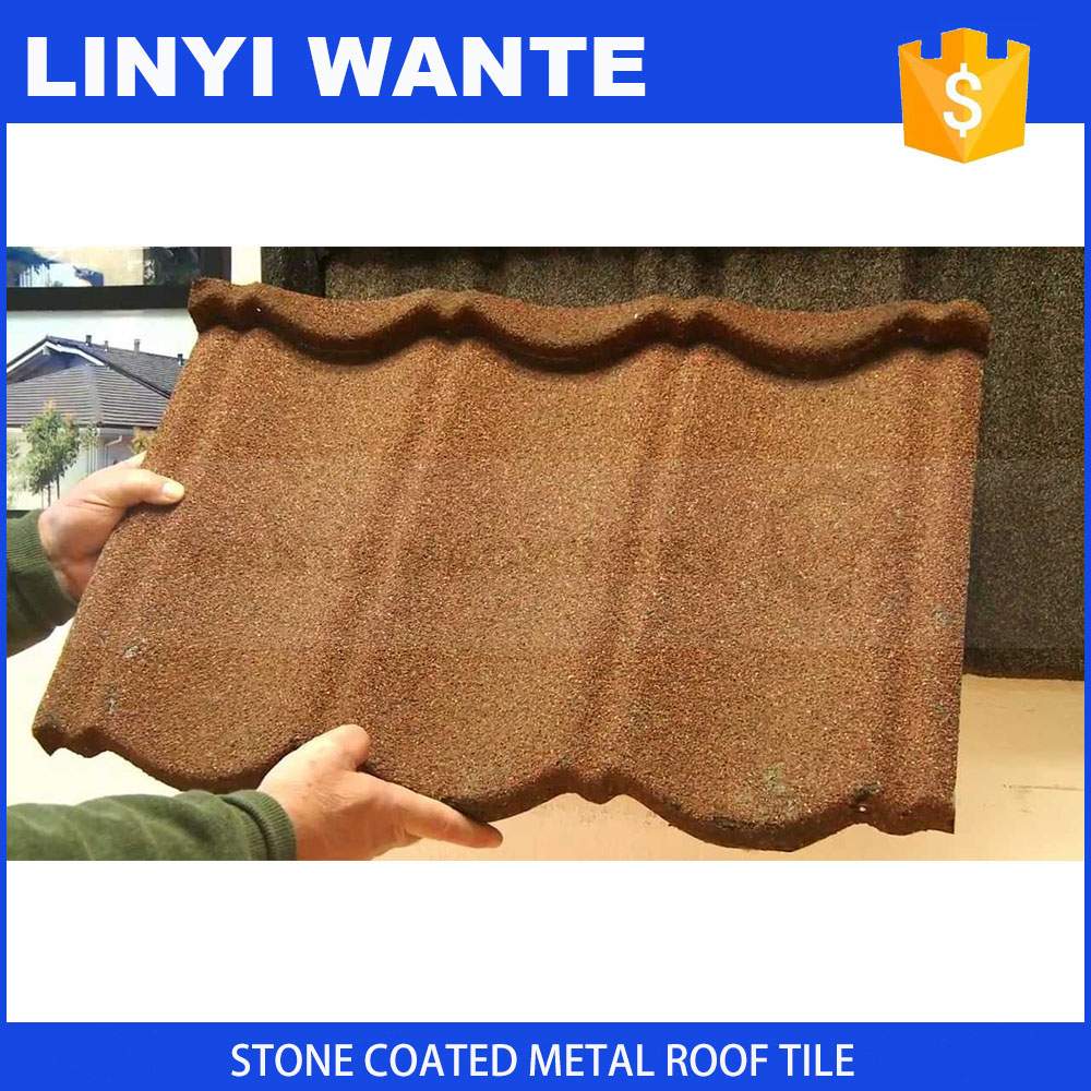 building materials, waviness color stone coated metal roof tile