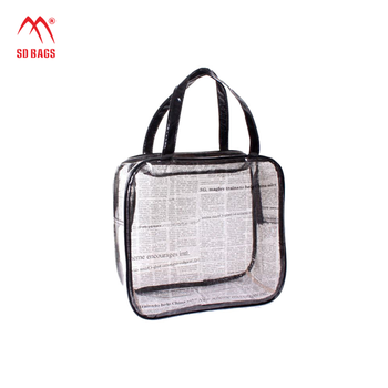 Classical Design cosmetic bag , clear vinyl cosmetic bag