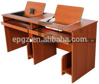 School Furniture Double-seat Flip Top School Computer Desk