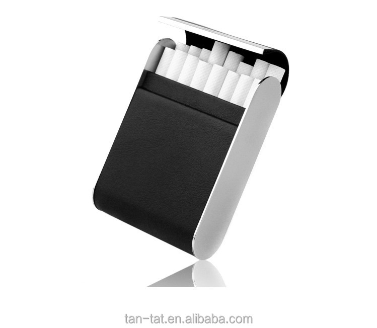 Men Genuine Leather Cigarette Tobacco Pouches for Belt