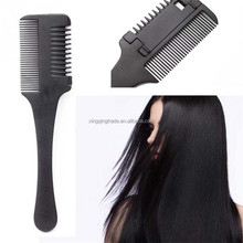 Black Handle Hair Razor Cutting Thinning Comb Double Sided Thinning Hair Comb