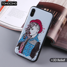 TOMOCOMO Sexy Hot Punk Rock Girl Summer On Soft Phone Case Coque Fundas For iPhone 7 7Plus 6 6S 6Plus 5 5S 8 8Plus X