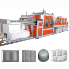 Plastic Foam Tray PS Food Container Plastic Automatic Vacuum Forming Machine