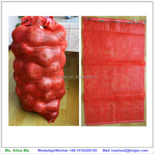 plastic monofilament net fruit and vegetable mesh bags for onion