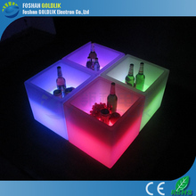 GLACS led music dancing furniture led cube rgb for chairs, table, side table use