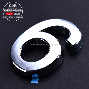 custom abs plastic chrome numbers&letters for car