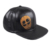 Leather Embroidery logo snapback cap, leather snapback black cap, 6 panel leather snapback