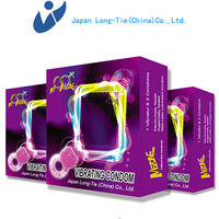 Sexy Pleasure Cock Ring Vibrating ring Condom for Men
