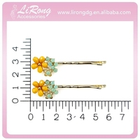 Kids hair accessories girls enamel bow alloy bobby pin