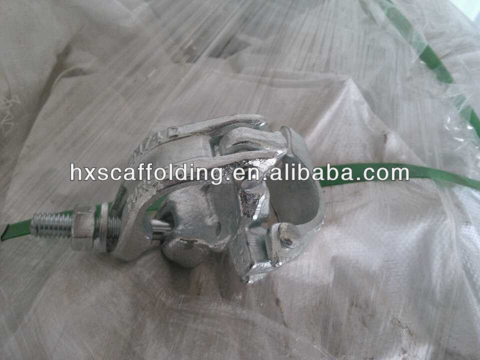 scaffolding drop forged double coupler 48.3mm scaffold pipe clamp fitting