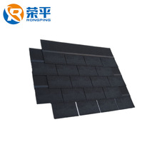 Professional tile factory fiberglass flexible pitch bitumen single layer asphalt roofing shingles