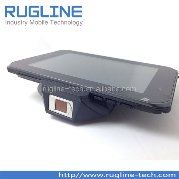 7 inch rugged android passport barcode reader tablet with WiFi,GSM/GPRS/3G, Camera, GPS, Bluetooth(RT710)