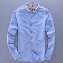Wholesale solid color custom linen casual new style pant shirt for men
