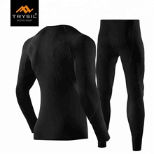 Men's <strong>Sports</strong> Running Set Compression Shirt + Pants Skin-Tight Long Sleeves Quick Dry Fitness Tracksuit Gym Yoga Suits