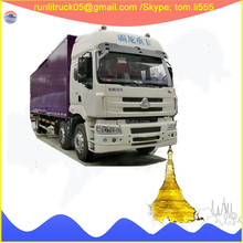 China truck cargo lift supplier for LZ1250M5DAT dongfeng chenglong front double axle van truck 15 tons sale in mongalia