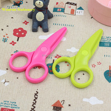 Promotional Plastic Blade Scissors Baby Safety Scissors Classroom Scissors for Kids and Students