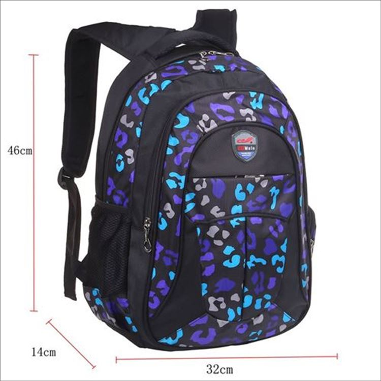high quality waterproof lightweight polyester big compartment zipped pockets wholesale children school bag