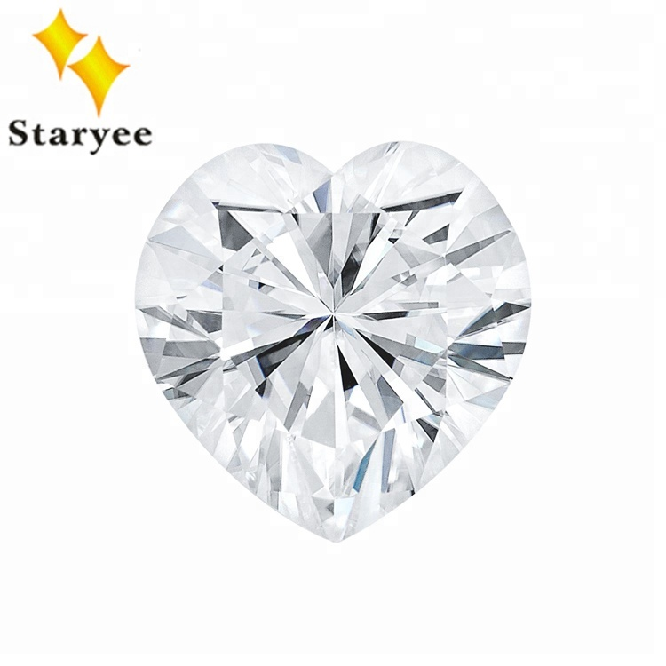 VVS DEF Color Charles Colvard Heart Cut Synthetic White Moissanite <strong>Diamond</strong>