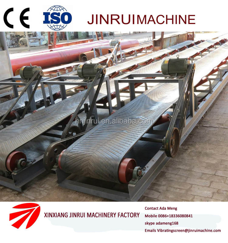 Horizontal mineral iron ore/concrete batching plate belt conveying system