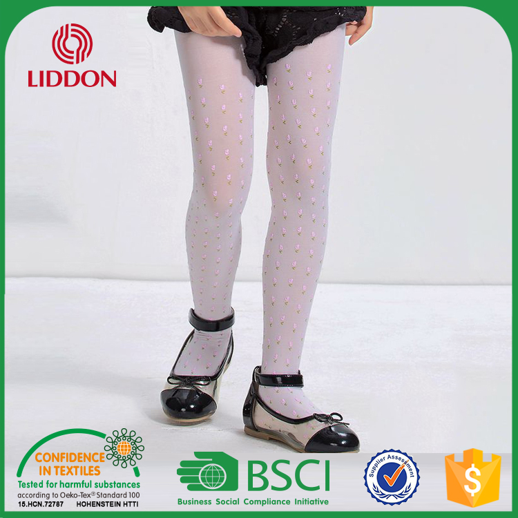Japanese Girls Kids Custom Printed Belly Tube Pantyhose Tights,Wholesale Nylon Ballet Dance Tights