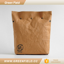 Shoulder sytle paper food bag folding lunch