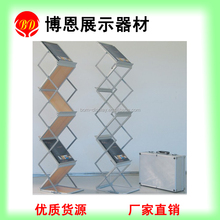 Acrylic/wooden tray stand A4 folding brochure holder for office