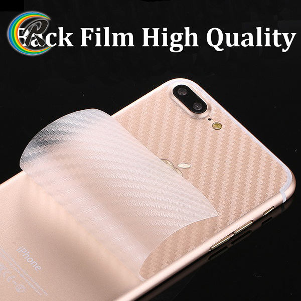 OEM Factory direct sale carbon fiber back screen guard for iphone 7 6 screeen film