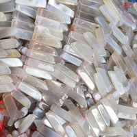 Raw Agate druzy Chips Beads Slice Stick Slab Rectangle Gemstone pendant Long Points beads strand supplies from yiwu