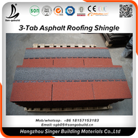 China low price color customized fiberglass roof tiles mosaic asphalt roof shingles tiles in Philippines