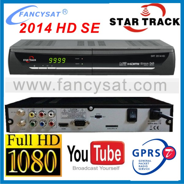 Startrack 2014 HD SE digital satellite receiver with gprs dongle Star track 2014 HD SE