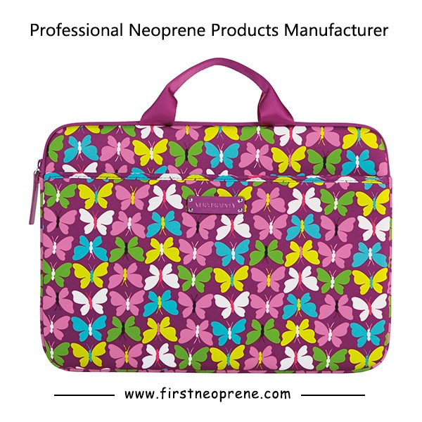 Colorful Flower Neoprene Stylish Laptop Sleeve