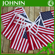 customized size bunting cheap small string american flag