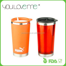 innovative products made in china plastic outer stainless steel inner thermal coffee cup with plastic lid