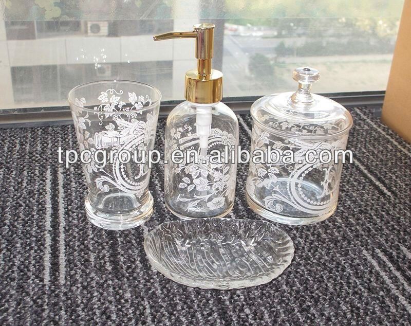 crystal bathroom accessories sets%0A China Glass Bathroom Accessories Sets China Glass Bathroom