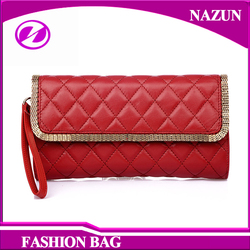 2016 New Design bag with metal edge decorative Lady leather bag for women