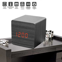 Charging Wooden Desk LED Digital Alarm Clock