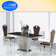 Poplar Decorate Marble Top Dining Table