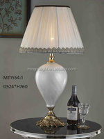 antique glass table lamp with brass light for living room