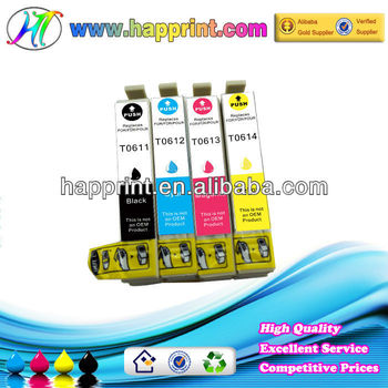 For Epson T0611 T0612 T0613 T0614 printer compatible inkjet cartridge