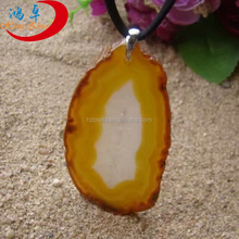Custom Gemstone Slices Polished Agate Slices Pendants