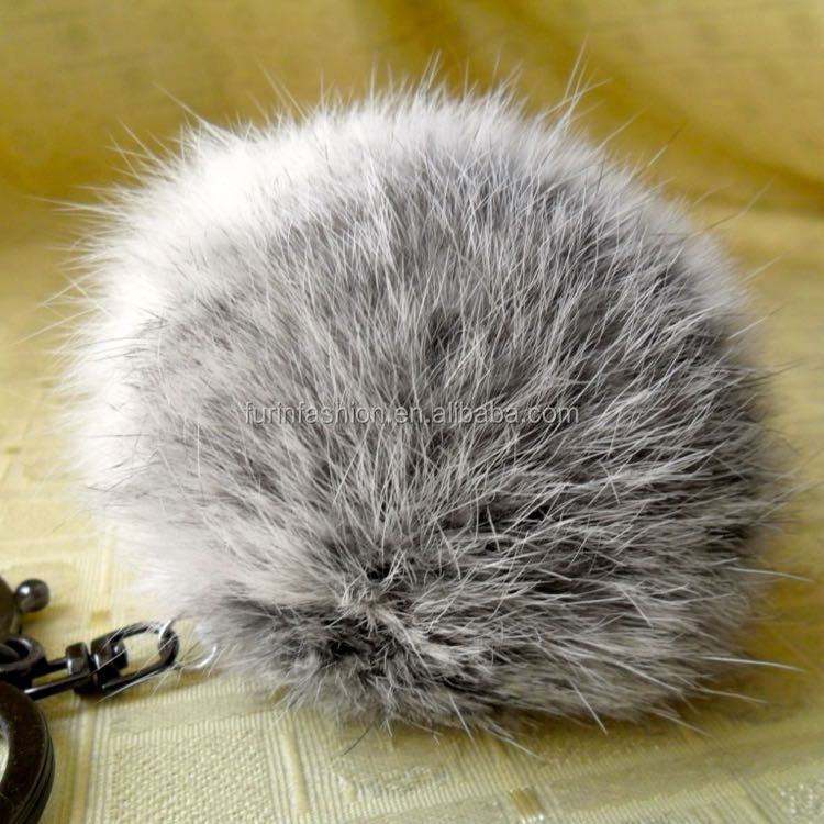 Newest Top Quality Multi color Rabbit Fur Ball Keychain