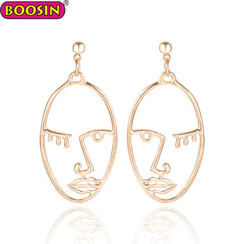 2018 Trend product fashion woman jewelry face wire earrings for woman