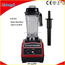 2.5L 1860W High Performance Commercial Blender Industrial Smoothie Blender with Timer Function