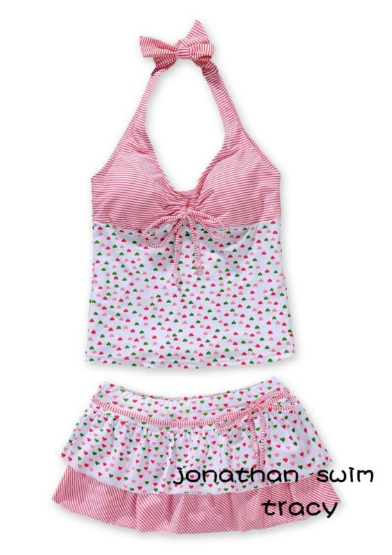 hot selling two pieces teenage girls swimwear