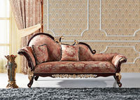 2014 Luxury antique fabric chaise lounge is used solid wood, fabric and high density sponge for the living room furniture