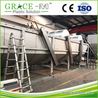 10ton battery waste plastic waste recycling line