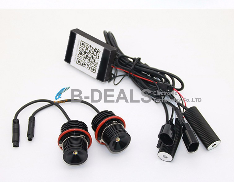 RGBW bluetooth remote E39 20W RGBW led marker angel eyes for BMW