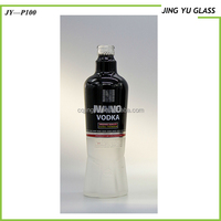 Wholesale Frosted empty bottle 500ML for vodka